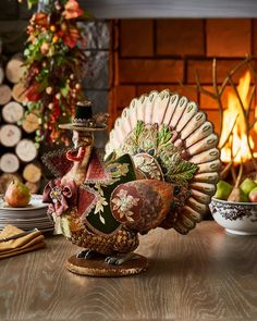 Shop Spice Traditions Turkey from Katherine's Collection at Horchow, where you'll find new lower shipping on hundreds of home furnishings and gifts. Thanksgiving Turkey, Thanksgiving Decorations, Thanksgiving Dinnerware, Peru, Turkey Table, Turkey Plates, Table Centerpieces, Table Decorations, Fall Decor