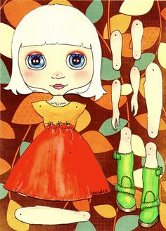 Paper Doll... by Trio Blythe, via Flickr