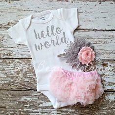 Conjunto bebé niña tomar casa traje recién por LolaBeanClothing