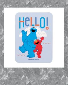 Cookie Monster & Elmo Hello! Magnet #seasame #street #elmo #cookie #monster #Magnet - Sesame Street and firsts.