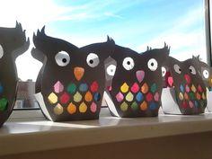 Sint Maarten, 11 november, lampion maken, uil, zelf maken, DIY, knutselen. Doe-het-zelf, feestdag