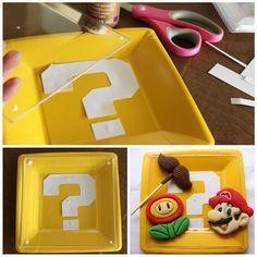 Mario Question Block Party Plates