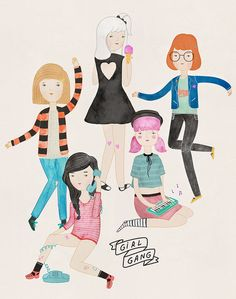 Girl gang / Melissa Chaib #Illustration