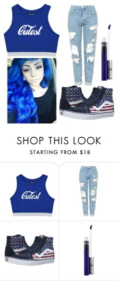 """Untitled #42"" by kwon-jaylin ❤ liked on Polyvore featuring Topshop, Vans and MAC Cosmetics"