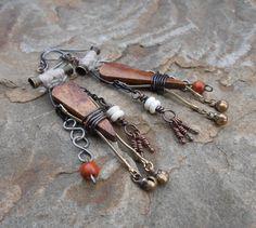 Tribal Boho Gypsy Earrings by NomadzEmporium on Etsy