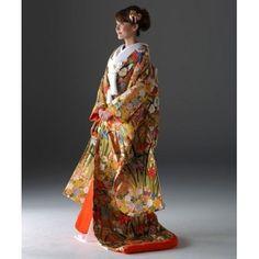 KYOKANE WEDDING(キョウカネ ウエディング):【能衣裳にも使われている織!!】本格派の方にピッタリ ピンクオレンジ打掛