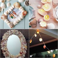 Creative ideas on how to use the shell, you can bring them holiday