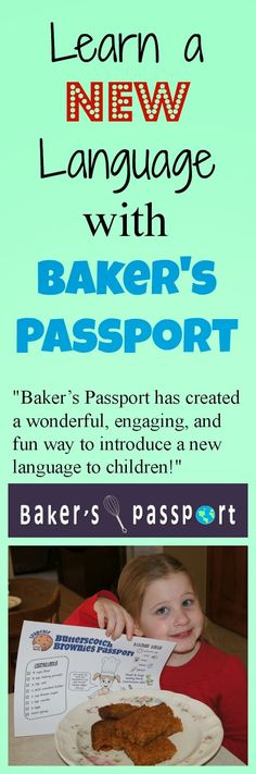 Learn a new language with Baker's Passport!   Perfect for homeschool and aferschool kids from 4-12 years of age. Make learning Spanish, French, or Japanese fun with this hands on baking language program!