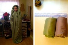 Hooded Sleep Sack DIY- Her Packing List, i dont think i will ever do this but its a great idea!