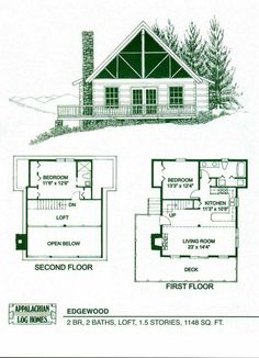 Small Cabin Floor Plans Lovely Log Home Package Kits Fresh House With Lo. Train To Love House Plan ~ small mountain cottage house plans small mountain cabin house plans small mountain cabin floor plans Log Cabin House Plans, House Plan With Loft, Log Cabin Homes, Cabin Kits, Log Cabins, Loft House, Barn Homes, Small Log Homes, Small Log Cabin