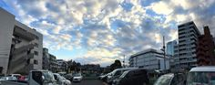 #Roppongi #white #clouds #blue #sky #panoramic 六本木の白い雲 #イマソラ #空 #そら #Tokyo #Japan