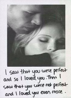 The Vampire Diaries . Klaus and Caroline . I saw that you were perfect and so I loved you. Then I saw that you were not perfect and I loved you even Caroline Forbes, Klaus And Caroline, Quotes Vampire Diaries, Serie Vampire Diaries, Vampire Diaries The Originals, Delena, The Cw, L Love You, My Love