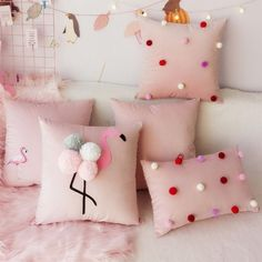 Bow Pillows, Cute Pillows, Sewing Pillows, Kids Pillows, Draps Design, Diy Room Decor, Bedroom Decor, Pillow Crafts, Cushion Cover Designs