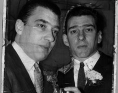 In Tangier, Francis Bacon said he had seen the Kray twins (pictured) force a man to go down on his knees and kiss their shoes in a restaurant full of people The Krays, Going Down On Him, Twin Pictures, Mob Wives, Real Gangster, Unhappy Marriage, Francis Bacon, Weird Stories, Twin Brothers