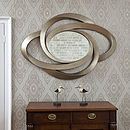 Not on the high street loretto ant bronze oval mirror £298. 53 x 38 x 8 deep.  5.6kilo product 314246