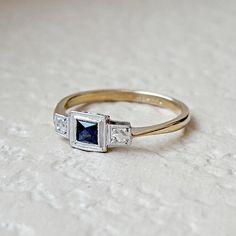 vintage sapphire engagement ring @myweddingdotcom