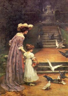 Victorian Paintings Of Mother and Child on Pinterest | Victorian ...