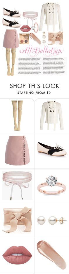 """""""All Dolled Up."""" by prince-jellyfish ❤ liked on Polyvore featuring Joseph, Chicwish, Boohoo, Oscar de la Renta, Lime Crime and NARS Cosmetics"""