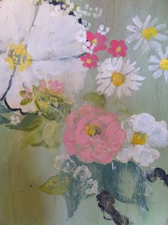"""Detail, new work for Museo Gallery, June 2014. (C) Kathe Fraga paintings, """"The French Wallpaper Series"""". www.kathefraga.com"""
