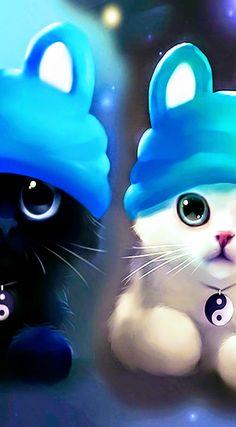Cute Panda Wallpaper, Cute Disney Wallpaper, Cute Wallpaper Backgrounds, Animal Wallpaper, Cute Cartoon Wallpapers, Baby Animals Super Cute, Cute Baby Cats, Cute Little Animals, Kittens Cutest