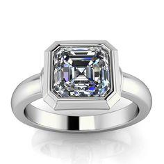 Have a peek here engagement ring designs Classic Engagement Rings, Platinum Engagement Rings, Asscher Cut Diamond, Diamond Rings, Gemstone Rings, Three Stone Rings, Ring Designs, Fashion Rings, Wedding Jewelry