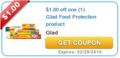 Use this $1/1 Glad Coupon AND the in-ad store coupon to stock up on Cling Wrap for only $1 at Walgreens this week starting TODAY!!