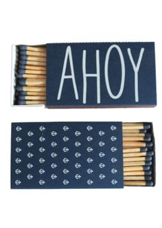 'Ahoy Matches' - cute favor idea for a nautical wedding
