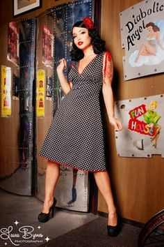 Pinup Couture - Anna Dots Black dress