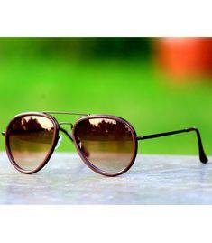 aa65b859662c Buy New Fancy Sunglasses Brown Aviator at Lowest Price -