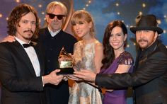 Congratulations Taylor Swift, The Civil Wars and T-Bone Burnett on winning Best Song Written For Visual Media at The GRAMMYs for 'Safe & Sound' from The Hunger Games!