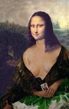 Mona Friends, Cool Pictures, Funny Pictures, La Madone, Mona Lisa Parody, Mona Lisa Smile, Renaissance Artists, Sexy Drawings, Raquel Welch