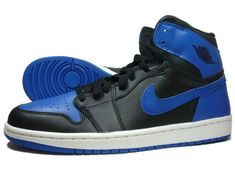 Air Jordan 1 (I) - Black / Royal Blue  These are my favorite shoes (excudling janoskis) no question. -JAM