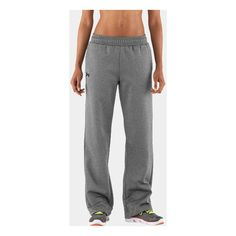 Women's Armour Fleece Team Pants ($50) found on Polyvore