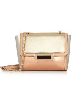 Diane von Furstenberg|440 metallic leather shoulder bag|NET-A-PORTER.COM