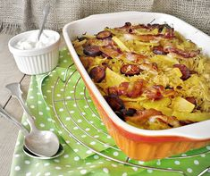 Juditka konyhája: KÁPOSZTÁS-KRUMPLIS EGYTÁL Recipe Mix, Hungarian Recipes, Potato Recipes, Potato Salad, Mashed Potatoes, Cauliflower, Macaroni And Cheese, Cabbage, Bacon