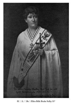 Danish Countess Ellen Bille Brahe Selby 33° (1876-1949).
