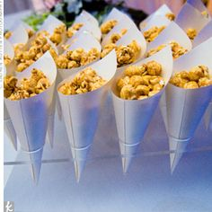 great way to serve finger food like popcarn, cracker jacks... although.. are cracker jacks the same if they aren't in that little box? hmmm...
