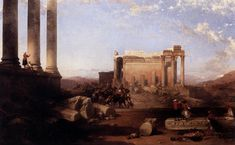 Ruins of the Temple of the Sun at Baalbec by David Roberts