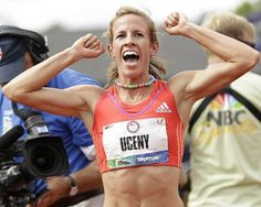 Morgan Uceny reacts to winning the women's 1,500-meter race at the U.S. Olympic Trials and is headed to the 2012 London Olympics.  #Team USA #USA Women Track & Field