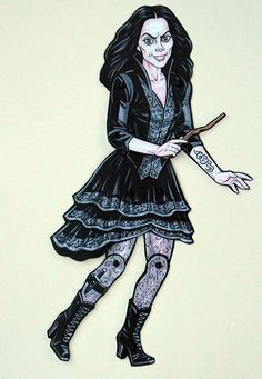 Bellatrix Lestrange Articulated Paper Doll by ArdentlyCrafted