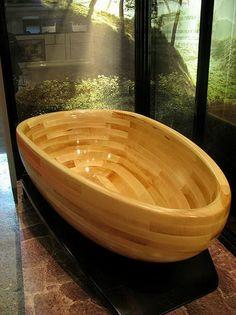 Modern Bath Tub Wood Furniture Design