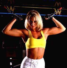 Female Wrestling - Tammy Lynn Sytch aka Sunny the first WWE Diva working out