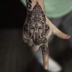 "10.8k Likes, 222 Comments - Inked Magazine (@inkedmag) on Instagram: ""Ganesha piece by the incredible @niki23gtr #inked #Inkedmag #tattoo #realism #ganesha #handtattoo…"""