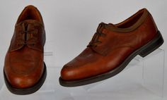Johntson & Murphy Passport 9.5 Medium Mens Brown Leather lace up Oxfords Used #JohnstonMurphy #Oxfords