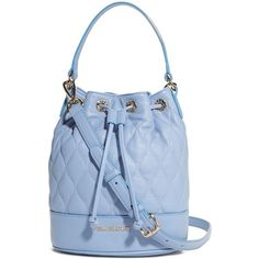 Vera Bradley Quilted Emerson Crossbody in Chambray ($198) ❤ liked on Polyvore featuring bags, handbags, shoulder bags, chambray, crossbody bags, quilted crossbody, bucket shoulder bag, long shoulder bags, blue purse and crossbody purse