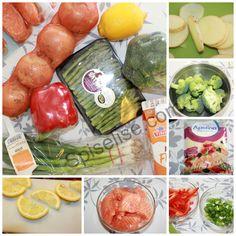 Laksepanne – knallgod – Spiselise Fresh Rolls, Food And Drink, Vegetables, Cooking, Ethnic Recipes, Kitchen, Vegetable Recipes, Brewing, Cuisine