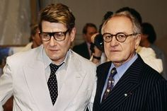 pierre berge and yves saint laurent