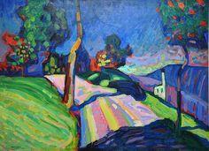 V. Kandinskij, Kohlgruberstrasse a Murnau, 1908