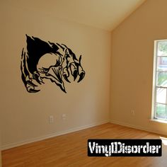 Bird monster Tears through walls faces Ripped Wall Decal - Vinyl Decal - Car Decal - CD10016