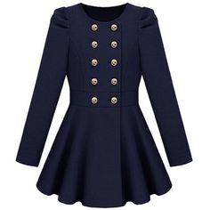 Double Button Blue Coat